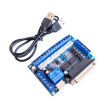 Upgraded 5 Axis CNC Interface Adapter Breakout Board For Stepper Motor Driver Mach3 + USB Cable