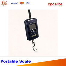 2 pcs/lot! 40kg x 10g Electronic Portable Digital Scale lb oz Hanging Luggage Electronic kitchen balance 20g