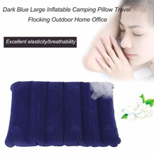 1 pcs Inflatable Camping Pillow Dark Blue Large Inflatable Camping Pillow Travel Flocking Outdoor Home free shipping Well Sell