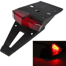 Universal Motorcycle Light Enduro Trial Bike Rear Fender Taillight LED Brake Stop Light Red Farol Auxiliar Tail Light Cafe Racer