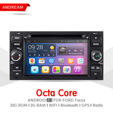Octa Core 2G RAM 32G ROM Car DVD Player Stereo Android 7.1 Navigation BT For Ford Focus Mondeo Steering Wheel Control EW851P8QH