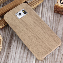 Wood Design Phone Case For Samsung Galaxy S6 Silicone Soft Imitation leather Bag Cover Mobile Phone Cases for Galaxy S6 edge