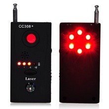Free Shipping Multi Wireless Radio Wave Signal RF GSM Device Spy Pinhole Hidden Camera Lens Sensor Scanner Detector Finder CC308