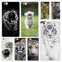 animal tiger Cub White Coque Shell Case Cover Phone Cases for Huawei P7 P8 P9 P10 Lite Mate s 7 8 9