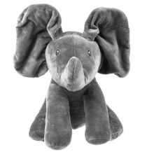 Fashion Elephant Stuffed Animals Plush Doll Play Music Sing For Kids Baby Educational Toy Christmas Gift(China)