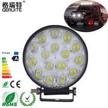 48W 4inch LED Work Light Waterproof 4800Lm Offroad Boat Truck Tractor LED light Driving Light Flood Beam spotlight Car Headlight(China)