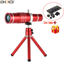 Buy 18X Zoom Telephoto Lens Aluminum Telephone Telescope Telephoto Phone Lens Tripod iPhone 8 7 6 6S 6S Plus 5 5S 5C SE for $21.87 in AliExpress store