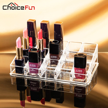 CHOICEFUN Fancy 15 Grids Acrylic Makeup Organizer Storage Box Case Cosmetic Jewelry Nail Polish Cases Holder Container SF-1038(China)