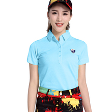 2017 Golf Clothing Women's Tshirt Polo T-Shirt High Quality Golf Shirts Short Sleeve Ladies Fit Golf Shirts Breathable Comfort(China)