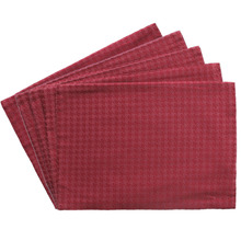"Promotion Set of 4pcs Houndstooth Design Placemat Red/Gold Christmas Table Mat 13""x 18"" GIFT SET(China)"
