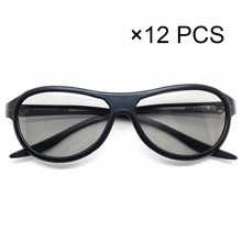 12 pcs Replacement AG-F310 3D Glasses Polarized Passive Glasses For LG TCL Samsung SONY Konka reald 3D Cinema TV computer
