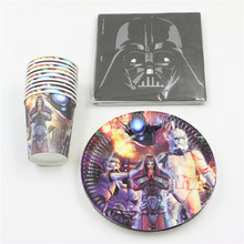 for 20people kids boys birthday party decorations event party supplies set plates cups napkins star wars theme 60pcs/lot