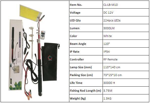 cob led fishing rod light m10 -1