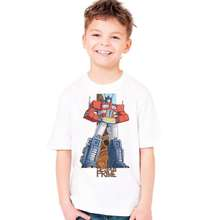 2017 new transformers children t shirts Cotton boys girls t-shirt short sleeve kids wear summer Robot Optimus Prime tshirt Baby