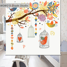 MOMO Tree Blackout Window Curtains Roller Shades Blinds Thermal Insulated  Fabric Custom Size , Alice 325-327