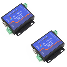 2PCS USRIOT USR-TCP232-410S Terminal Power Supply RS232 RS485 to TCP/IP Converter Serial Ethernet Serial Device Server Q18039-2