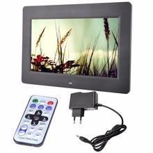"10.1"" HD LCD Digital Photo Frame Alarm Video Players + Remote Alarm Clocks MP3 MP4 Movie Player Digital Photo Frames"