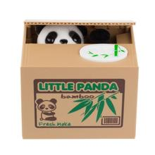 Cute Intelligent Panda Money Box Automatic Stole Piggy Bank for coins Mouse Pig Robotic Panda Coin Bank Gift L25(China)