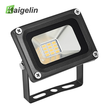 Led Floodlight 12V 10W Waterproof IP65 LED Spotlight Ultra-thin Reflector Flood Light Outdoor street Garden lighting Lamp(China)