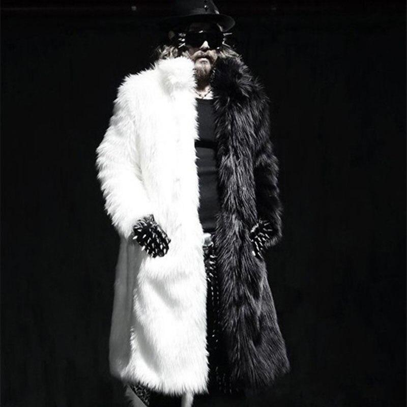 Men Real Fur Coat Winter Faux Fur Outwear On Both Sides Coat Men Punk Parka Jackets Leather Overcoats Genuine Fur Brand Clothing