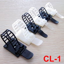 20pcs CL-1 ATC-17 25.4x18mm White Black 3M Glue Adjustable Wire Clamp Plastic Self Adhesive Cable Tie Fixed Mount Holder Clip(China)