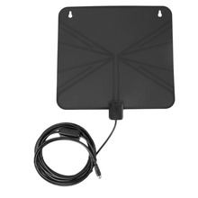 LAN-1040 10ft Cable Digital TV HDTV Aerial With Amplifier Bulit In UL Power Adapter Receive UHF/VHF Signals