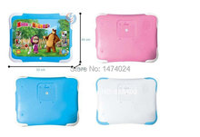 3D Russian Language Masha and Bear Tablet Pad Toy  Masha e orso Electronic Brinquedo Interactive Learning Computer Game For Kids