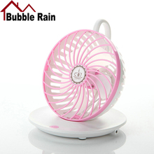 Bubble Rain A49 New Summer Mini Fan USB Rechargeable Fan for Office Home Round Table Pedestal Cooling Mute Conditioning Fans