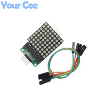 2 pcs MAX7219 Dot LED Matrix Display Module SCM Control Module DIY Electronic Kit For Arduino