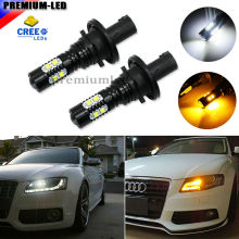 Amber Yellow/Xenon White Error Free PH24WY SPH24 CRE'E LED Bulbs For Audi Cadillac GMC Porsche,etc For Front Turn Signal Lights(China)