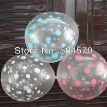 "10pcs/lot Korea Brand NEO Quality 12"" inch Clear Pink Dot Printed Air Latex Balloon For Wedding Birthday Balloon Decoration"