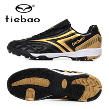 TIEBAO Brand Professional Indoor Soccer Shoes Men Women TF Turf Soles Football Boots Training Sneakers Sports Soccer Cleats(China)
