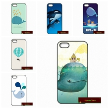 Adorable cute whale drawing Hard Phone Case Cover For iPhone 4 4S 5 5S 5C SE 6 6S 7 Plus 4.7 5.5(China)