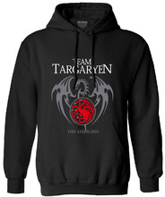 team targaryen men long sleeve fleece hoodies 2017 autumn funny bodybuilding pp sweatshirt harajuku crossfit hipster hooded mma(China)