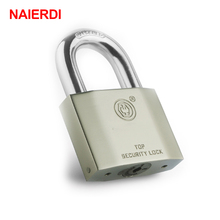 NAIERDI B7 Series Super B Grade Padlocks Silver Color Portable Anti-Theft Rustproof Luggage Suitcase Gate Lock Security Padlock