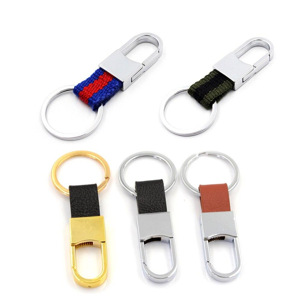 1PCS Fashion Leather Keychain pendant For Women Men Bag Parts Accessories Gold Silver Random Color