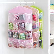 Clear 16 Pockets Socks Shoe Toy Underwear slippers jewelry Sorting Storage Bag Door Wall Hanging Closet Organizer