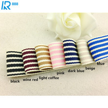 25 mm / 2.5cm thick double face stripes ribbons DIY bowknot accessories tape hand made Ribbed ribbon 3 size 5 m /lot