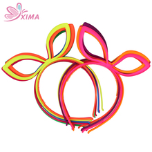 XIMA 12pcs High Quality Fox Ears headbands Rabbit Ears Headwear Festival Plastic Headband Girls Hair Accessories Free Shipping