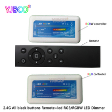 DC12-24V 2.4G Group CT/RGB/RGBW LED Remogte Controller RF Remote Dimmer for 5050 3528 5630 RGB LED Strip Light(China)