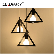 LEDIARY 3-Head Round Base Plate Pendant Lamp E27 Holder Wrought Iron Hanging Lamp Edison Droplight for Decoration Bulb Excluded
