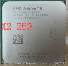 AMD Athlon II X2 250 processor 3.0GHz/2MB L2 Cache /Socket AM3  Dual-Core CPU (working 100% Free Shipping)