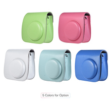 Andoer PU Instant Camera Bag Case with Strap for Fujifilm Instax Mini 8/9/8+ Flamingo Pink/Blue/White/Blue/ Green