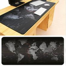 Super large 900x400mm Worlockingld Map rubber mouse pad computer game tablet mouse pad with Edge Locking