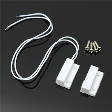 1 Set High Sensitive White 0.5A 100V 10W ABS 1 Set Door Window Contact Magnetic Reed Sensor Switch Alarm With 4 Screws New