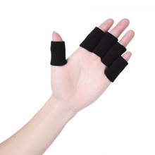 10pcs/pack Basketball Volleyball Sports Professional Finger Protective Fingerstall Nylon Safety Elastic Finger Caps Cheap(China)