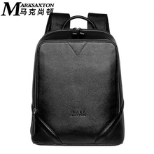 "MARK SAXTON Famous Brand Designer Natural Genuine Leather Men Backpack Perfect Quality Men's Travel Bags OK for 14"" Laptop(China)"