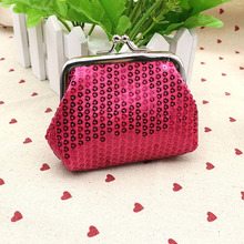 New Fashion Womens Bag Small Sequin Wallet Card Holder Coin Purse Clutch Handbag Bag Children's Wallet Purse For Coins Hot Sale