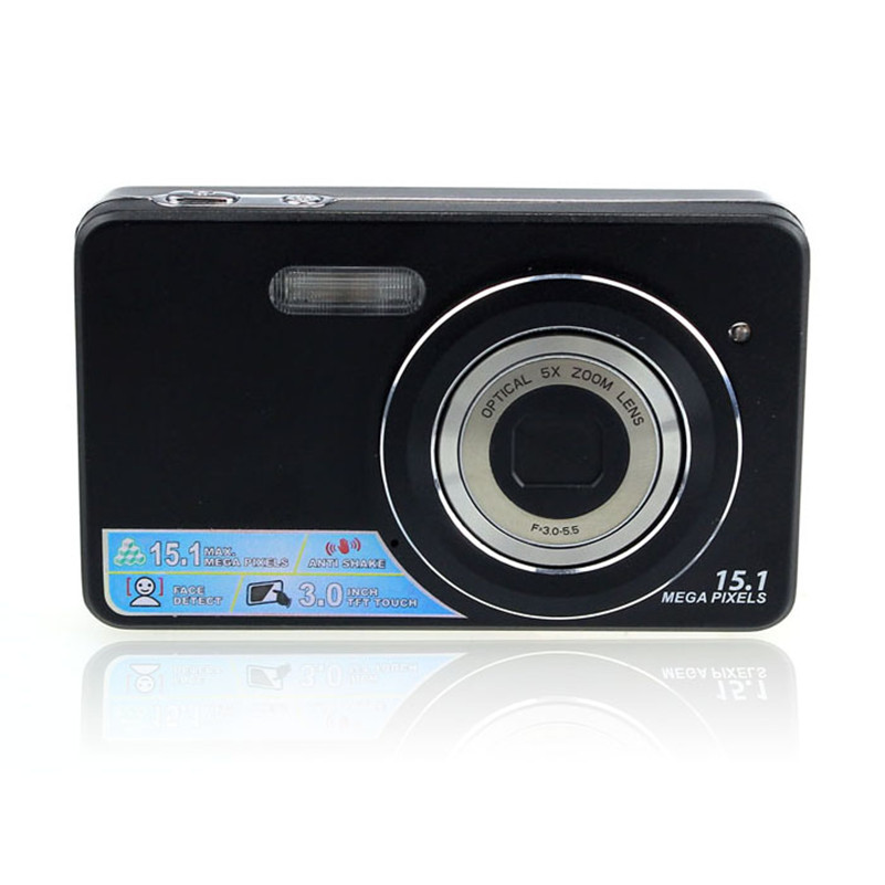 3.0 Inch Touch Screen LCD 15MP Digital Video Camera 5x Optical Zoom DC BK<br><br>Aliexpress