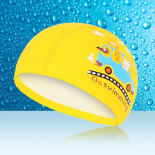 YUKE silicone waterproof baby swimming cap for Children cover long hair ear swimming hat 4 colors